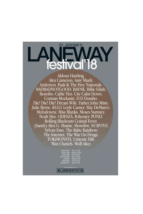 Lithograph Poster 2018 Event by Laneway Festival